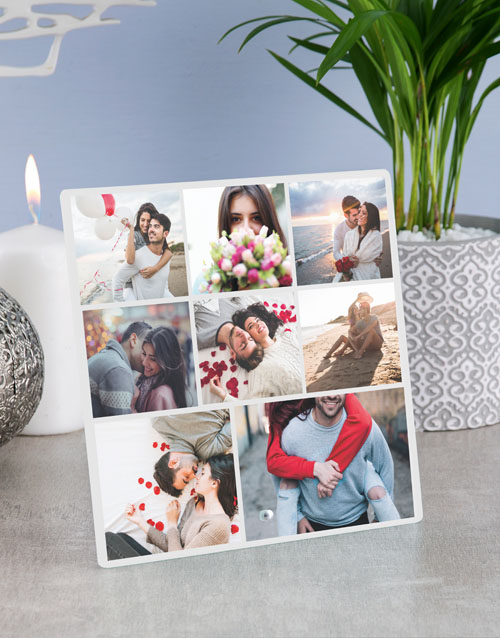 home-decor: Personalised Eight Photo Glass Tile!