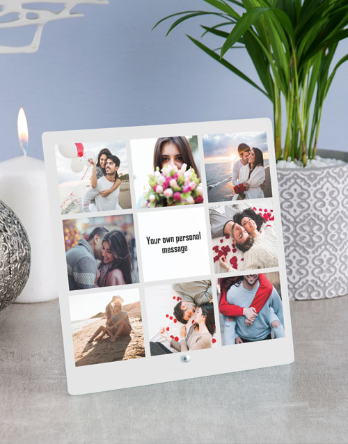 prices: Personalised Message Photo Upload Glass Tile!