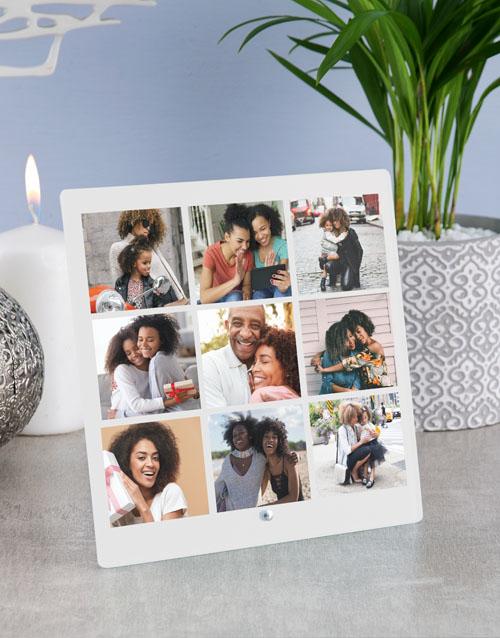 home-decor: Personalised Nine Photo Upload Glass Tile!