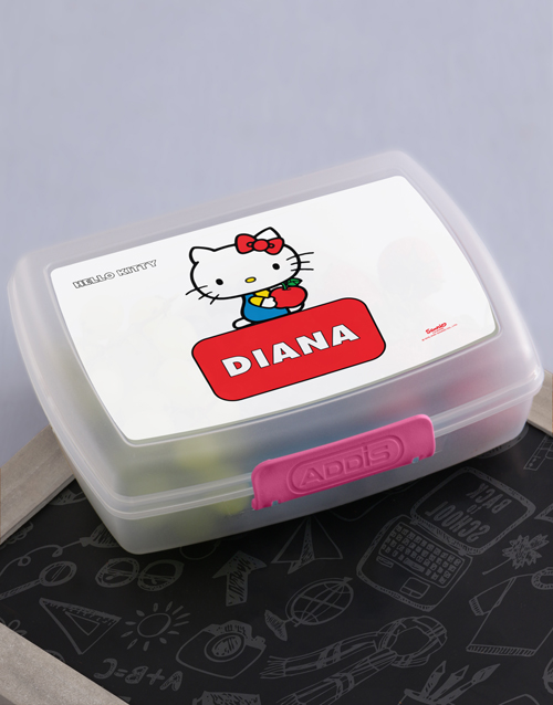 gifts: Personalised Hello Kitty Lunchbox!