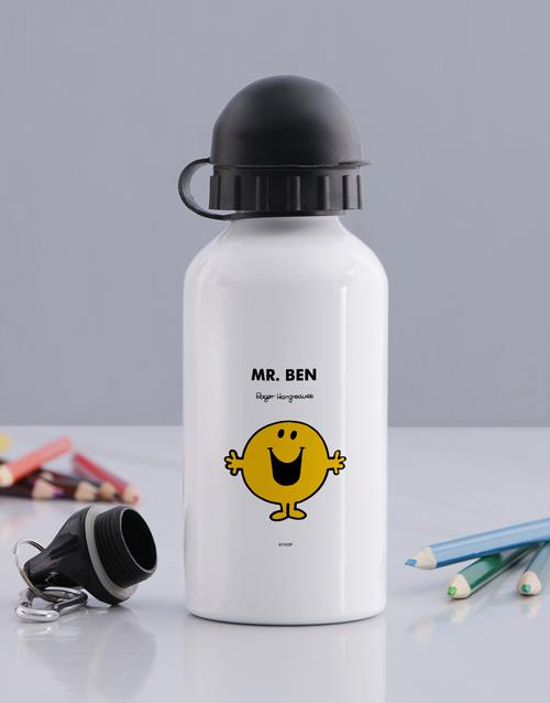 personalised: Personalised Mr Happy Water Bottle!