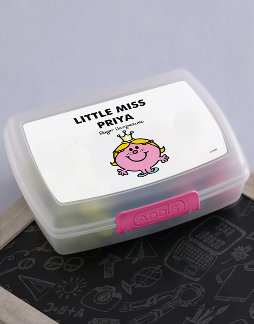 gifts: Personalised Miss Princess Lunchbox!