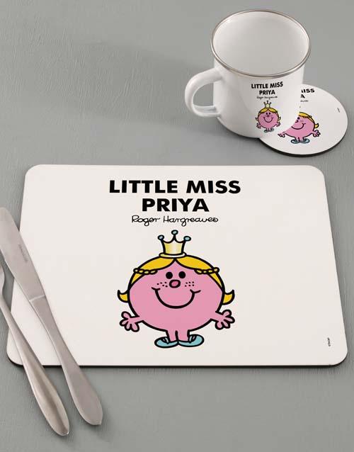 personalised: Personalised Miss Princess Dinner Set!
