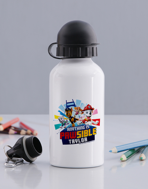 personalised: Personalised Paw Patrol Water Bottle!