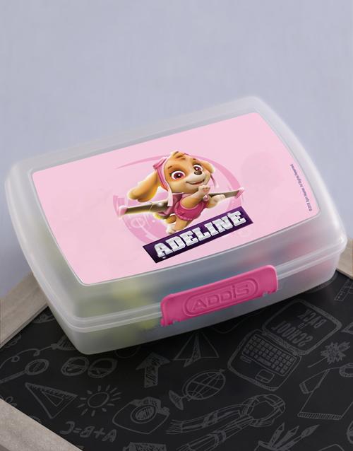 personalised: Personalised Paw Patrol Skye Lunchbox!