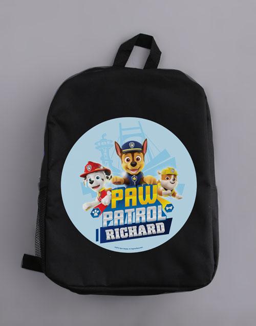 personalised: Personalised Paw Patrol Pups Backpack!