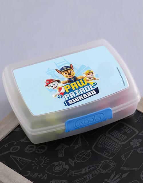 kids: Personalised Paw Patrol Pups Lunchbox!
