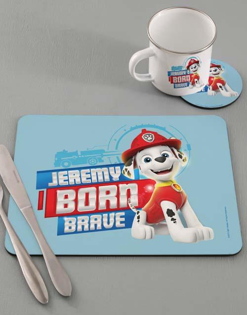 kids: Personalised Born Brave Dinner Set!