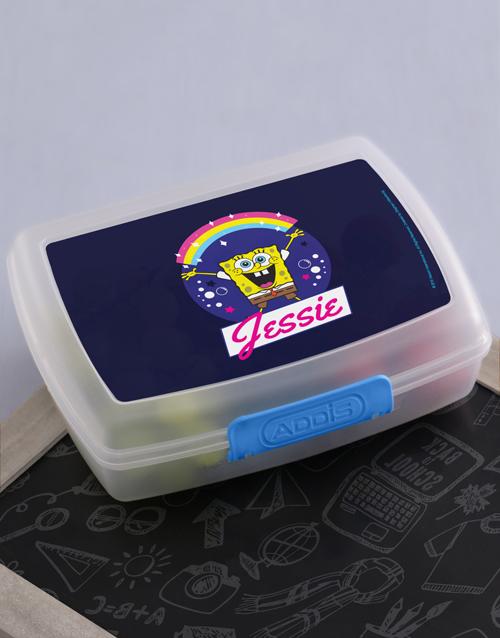 gifts: Personalised SpongeBob Rainbow Lunchbox!