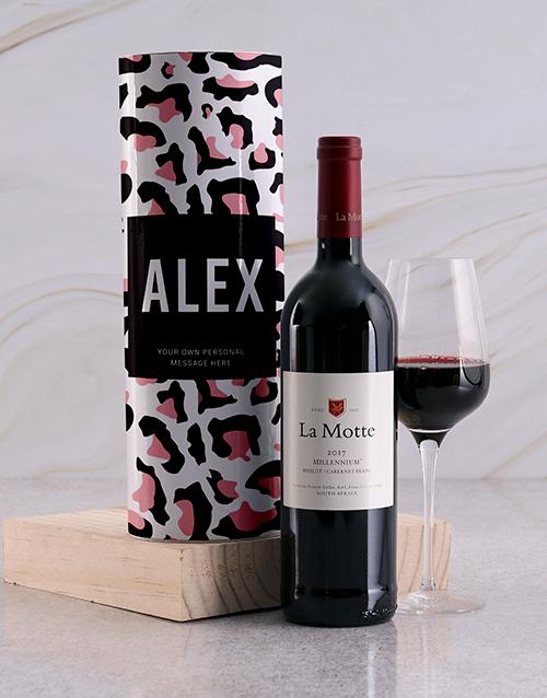 personalised: Personalised Print Wine Tube!