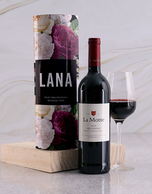 fine-alcohol: Personalised Floral Wine Tube!