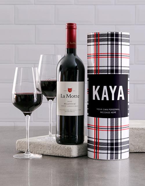 fine-alcohol: Personalised Tartan Wine Tube!