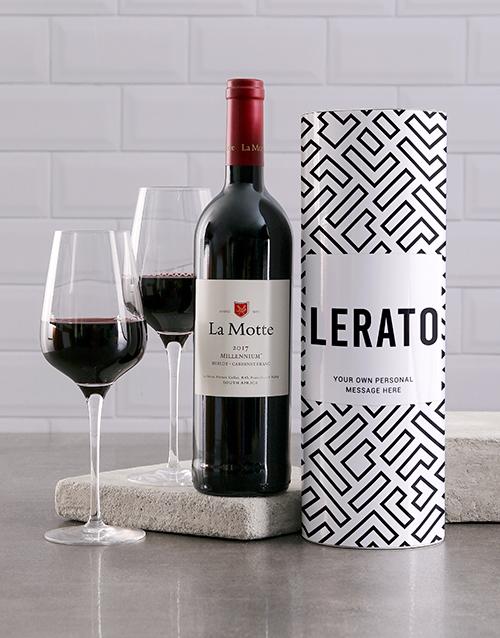 personalised: Personalised Geometric Wine Tube!