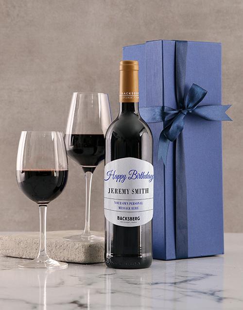 birthday: Personalised Blue Birthday Giftbox!