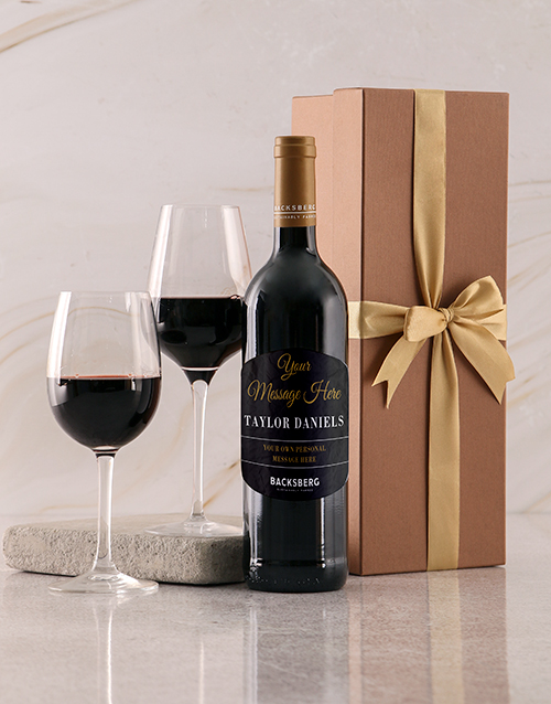 bosses-day: Personalised Gold Backsberg Giftbox!