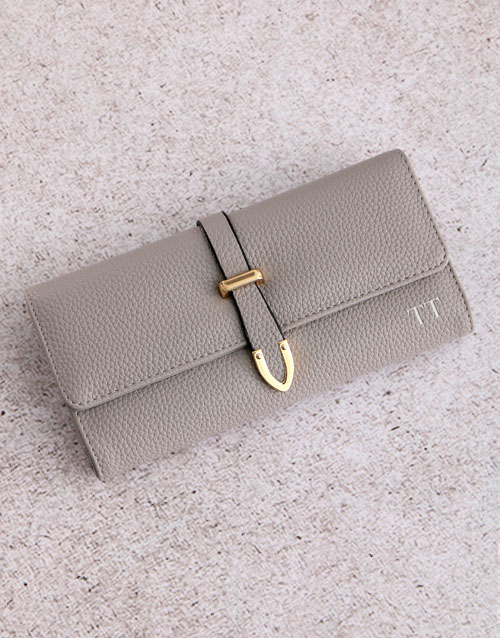 new-years: Personalised Grey Long Purse!