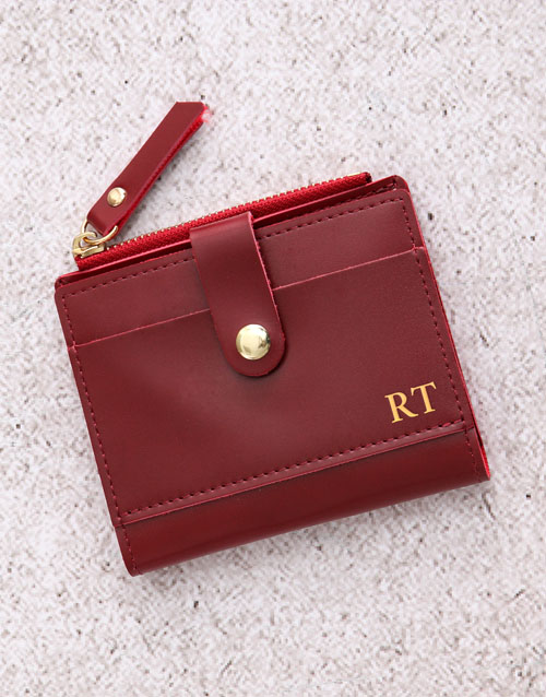 personalised: Personalised Burgundy Short Purse!