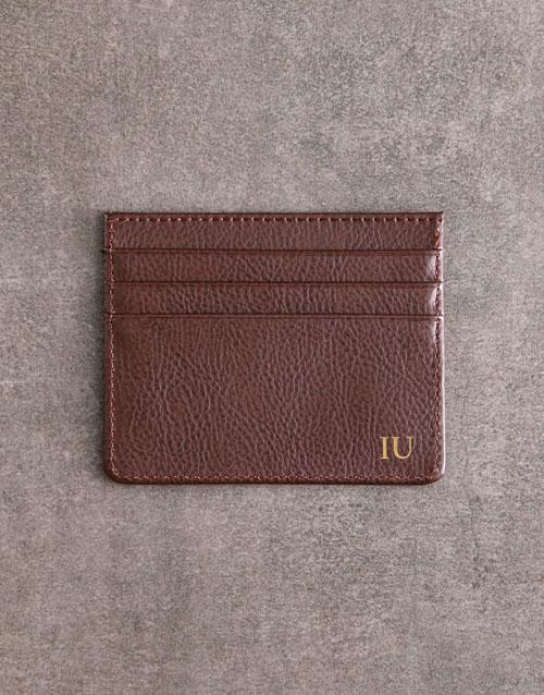 personalised: Personalised Brown Card Holder!