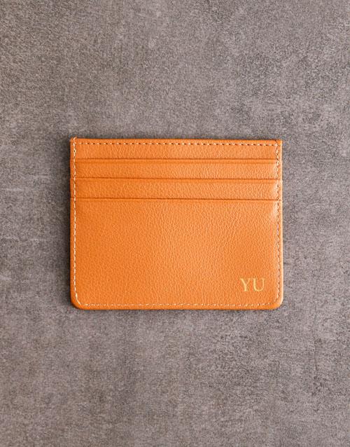 personalised: Personalised Tan Card Holder!
