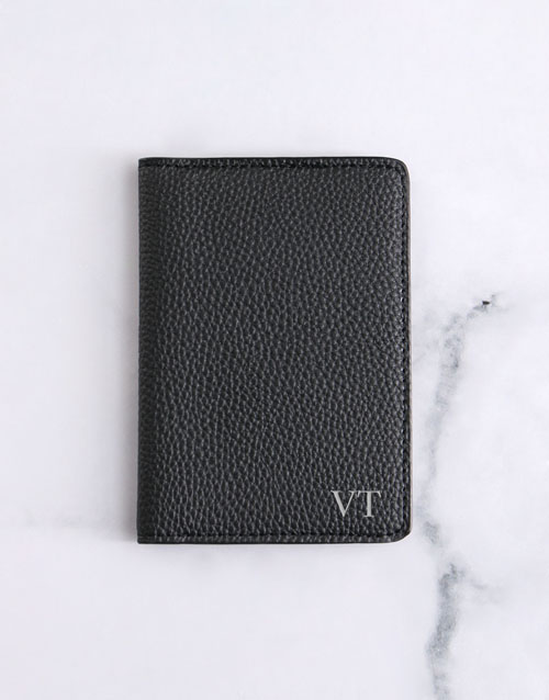 apparel: Personalised Black Passport Holder!