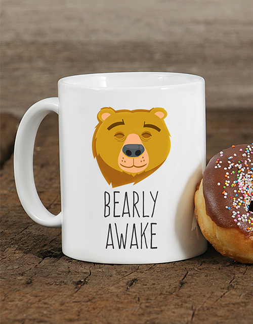 personalised: Personalised Bearly Awake Mug!
