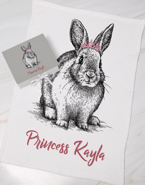 baby: Personalised Rabbit Keepsake Box With Blanket!