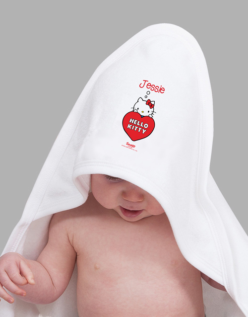 personalised: Personalised Hello Kitty Hooded Towel!