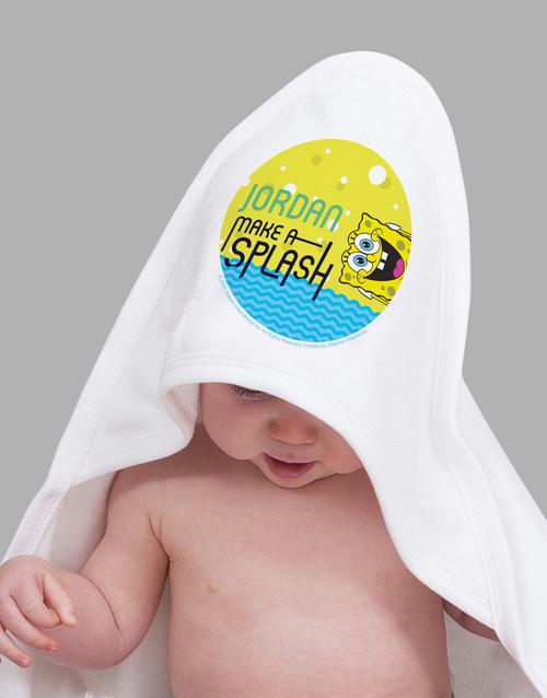 personalised: Personalised Make A Splash Hooded Towel!