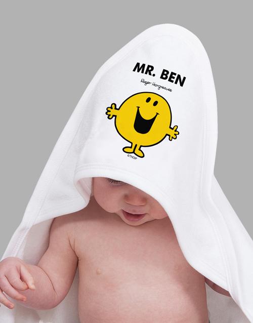 personalised: Personalised Mister Happy Hooded Towel!