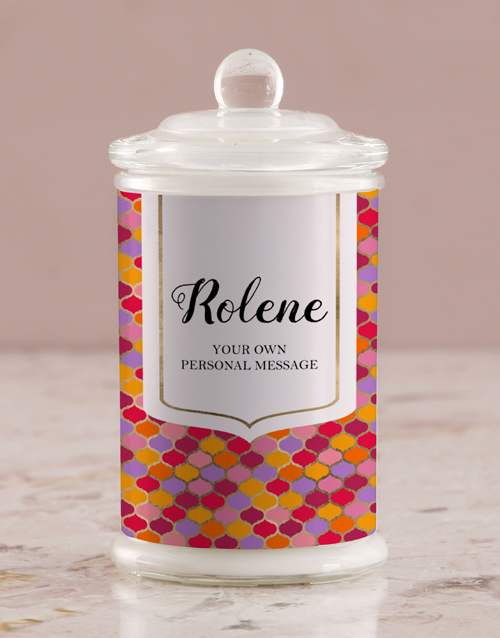 bath-and-body: Personalised Vibrant Ogee Candle Jar!