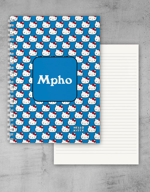 personalised: Personalised Blue Hello Kitty Notebook!