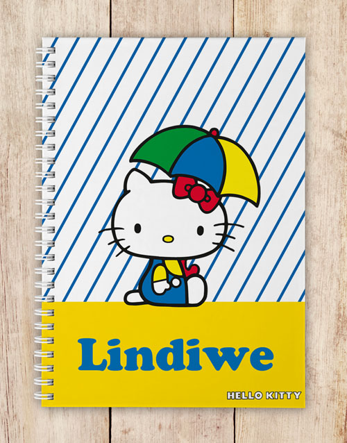 personalised: Personalised Umbrella Hello Kitty Notebook!