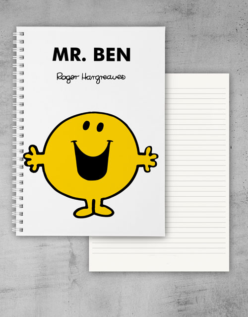 fathers-day: Personalised Mr Happy Notebook!
