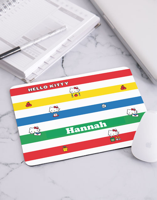 personalised: Personalised Colourful Hello Kitty Mousepad!