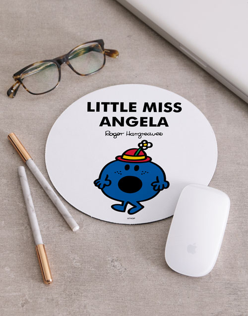 personalised: Personalised Little Miss Blue Mousepad!
