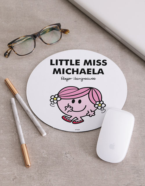 personalised: Personalised Little Miss Mousepad!