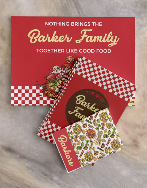personalised: Personalised Family Meal Planner Set!