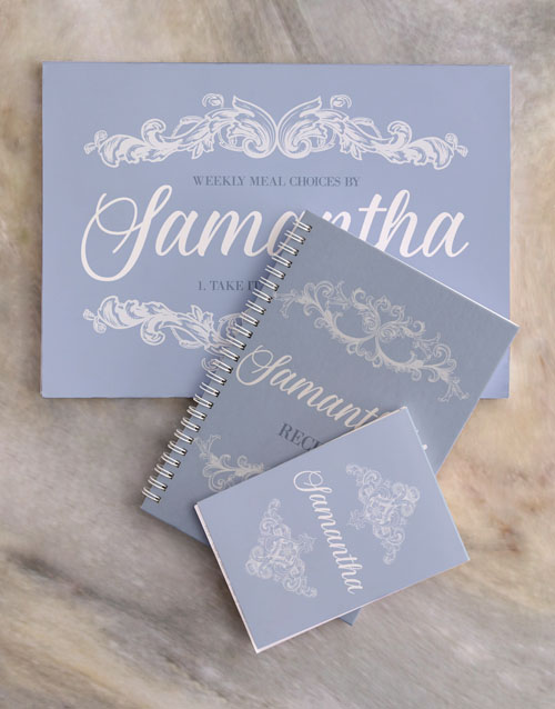 personalised: Personalised Chic Meal Planner Set!