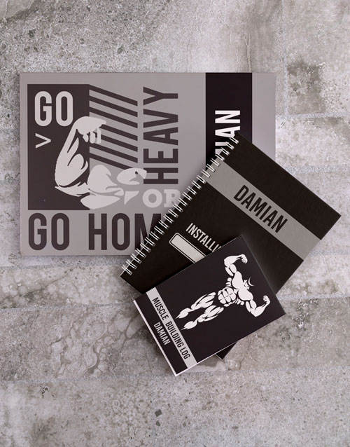 personalised: Personalised Exercise Goal Planner Set!