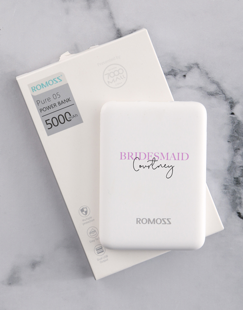 gadgets: Personalised Bridesmaid Romoss Power Bank!