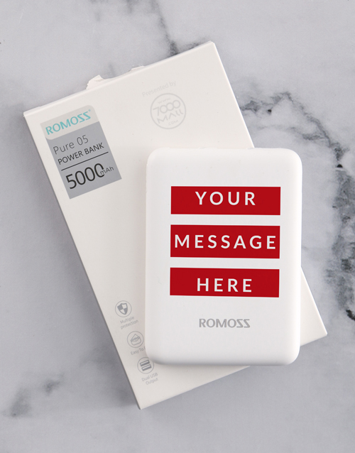 personalised: Personalised Red Message Romoss Power Bank!