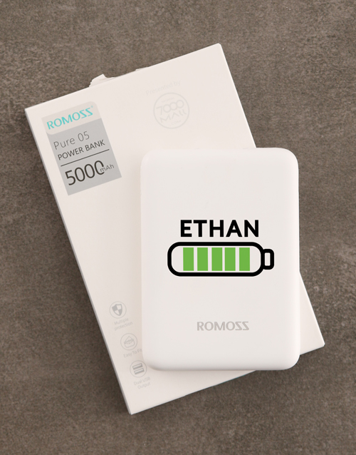gadgets: Personalised Battery Romoss Power Bank!