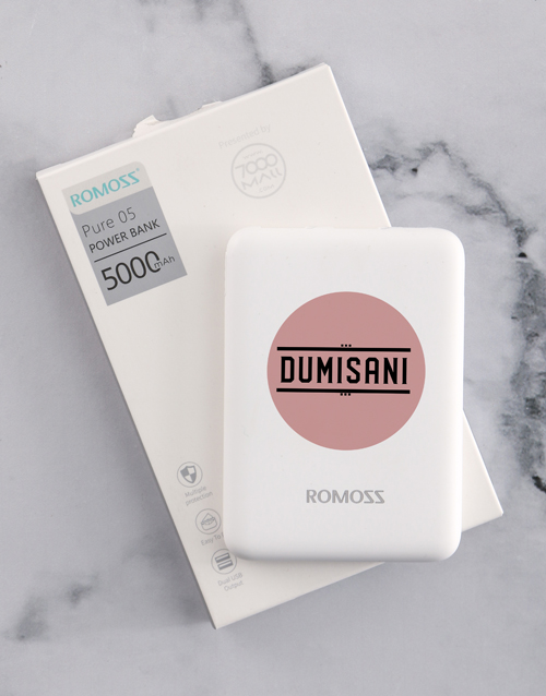 bosses-day: Personalised Pink Dot Romoss Power Bank!