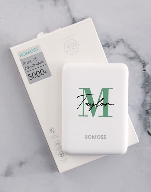 gadgets: Personalised Initial Romoss Power Bank!
