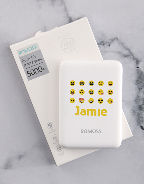 personalised: Personalised Emoji Romoss Power Bank!