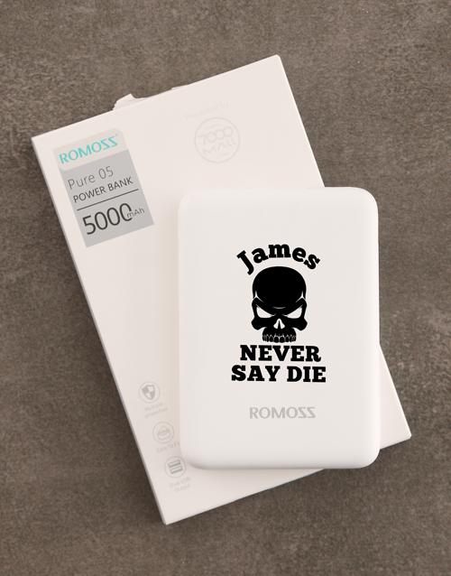 personalised: Personalised Never Die Romoss Power Bank !