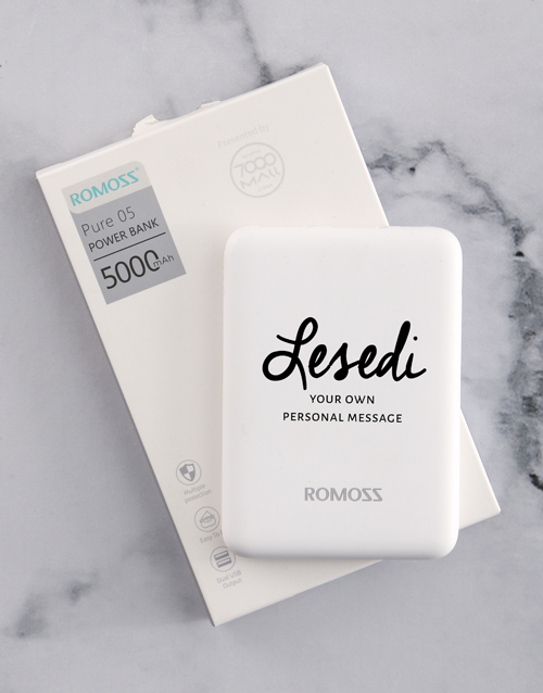 gadgets: Personalised Cursive Name  Romoss Power Bank!