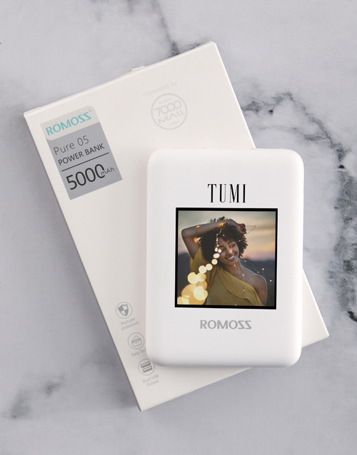personalised: Personalised Photo Romoss Power Bank!