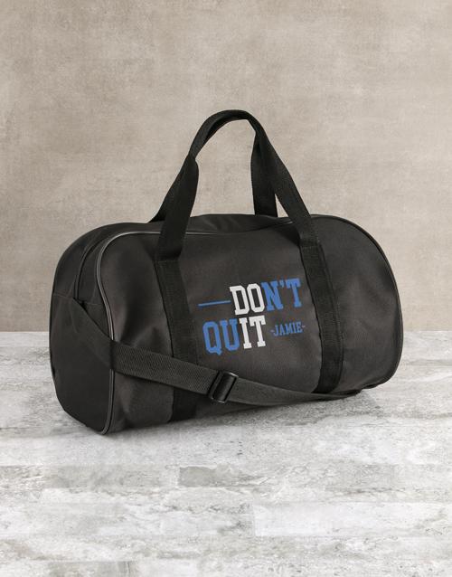 personalised: Personalised Do It Black Gym Bag!