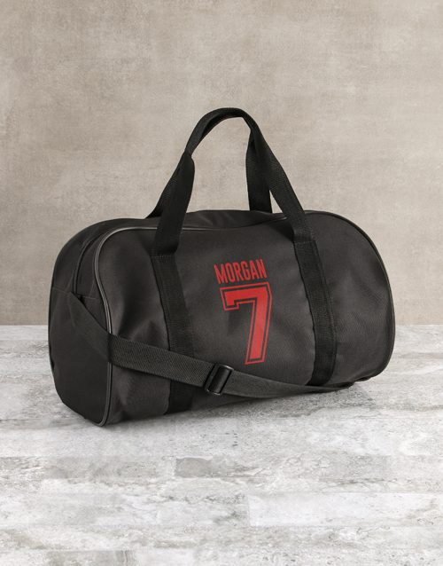 personalised: Personalised Team Player Black Sports Bag!